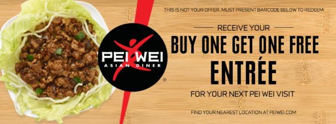 Score free food at Pei Wei Asian Diner