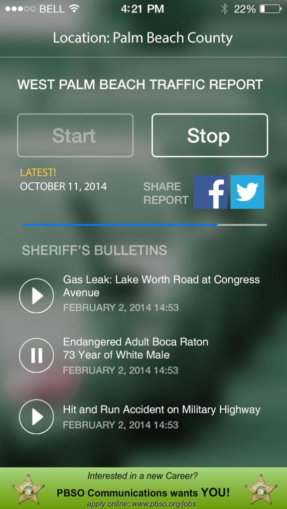 PBSO Audio Traffic App by Audible Media Group